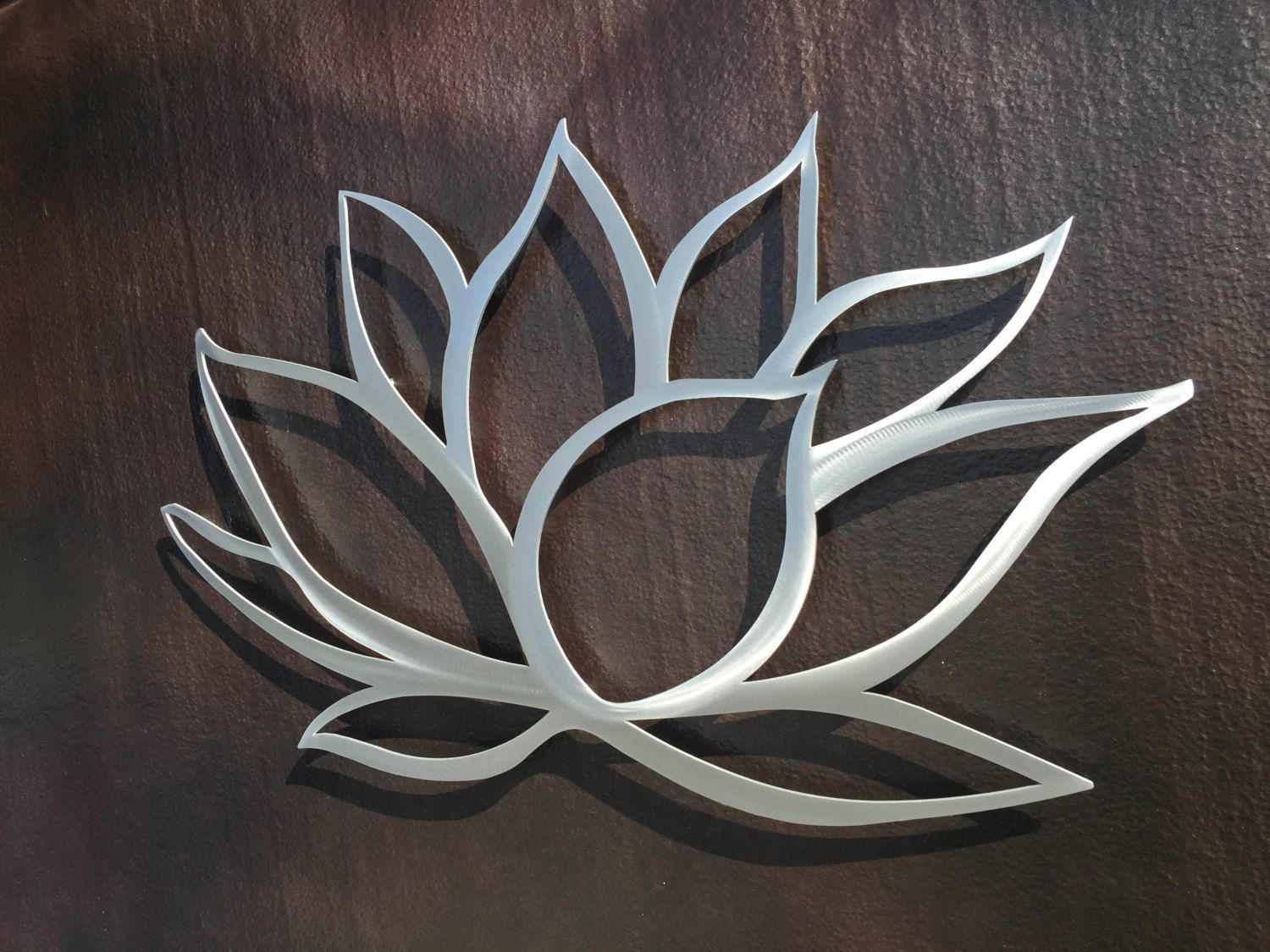 Large Metal Leaf Wall Decor Classy Lotus Flower Metal Wall Art  Lotus Metal Art  Home Decor In 2018