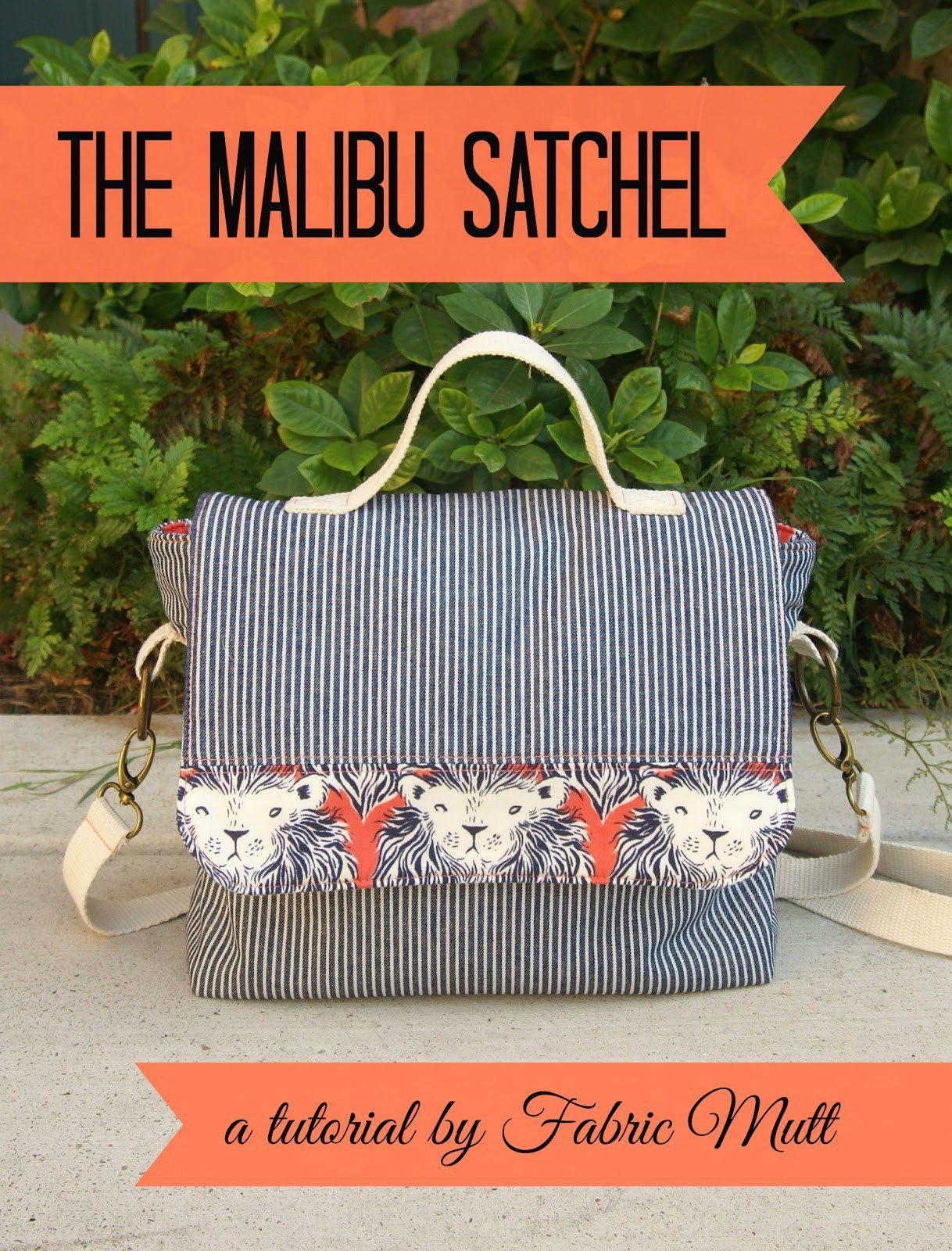 The Malibu Satchel - free pattern | Pinterest | Taschen nähen, Nähen ...