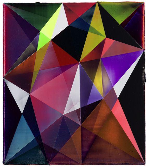 SHANNON FINLEY'S TRANSLUCENT GEOMETRIC PAINTINGS | Inspired Art ...