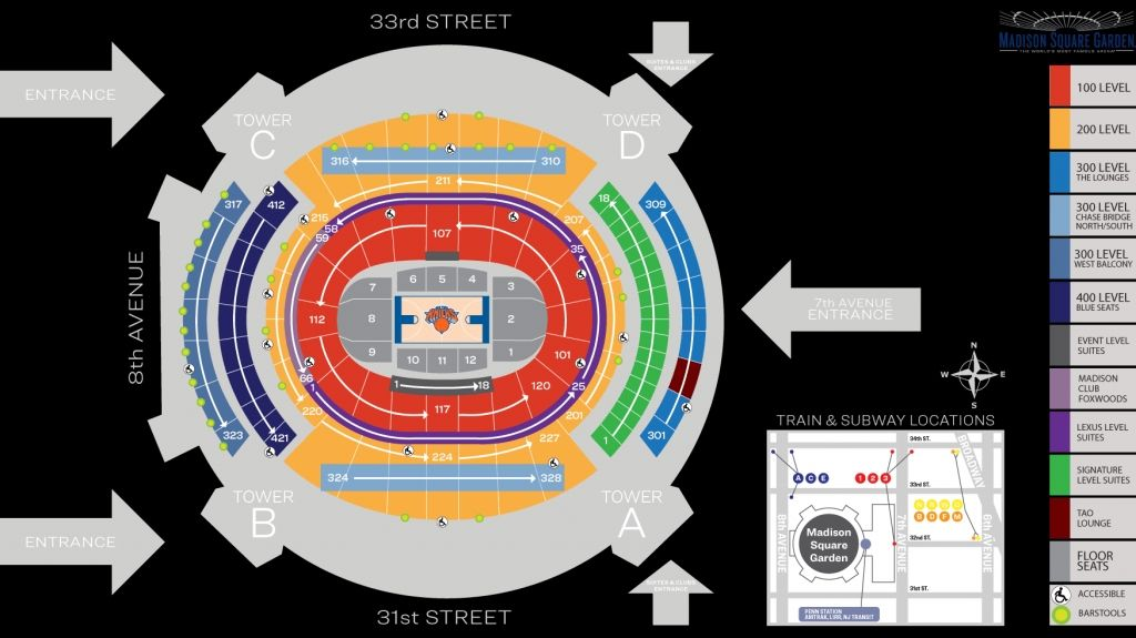 Madison Square Garden Basketball Seating Chart Di 2020
