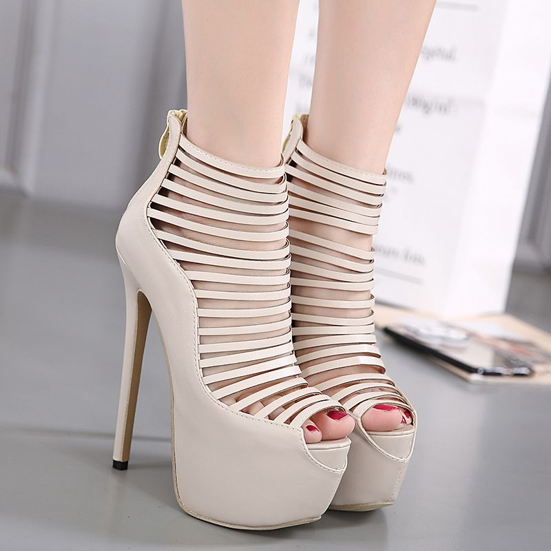 Fashion Womens Summer Thin Heeled Sandals Ankle Open Toe Party Wedding Shoes