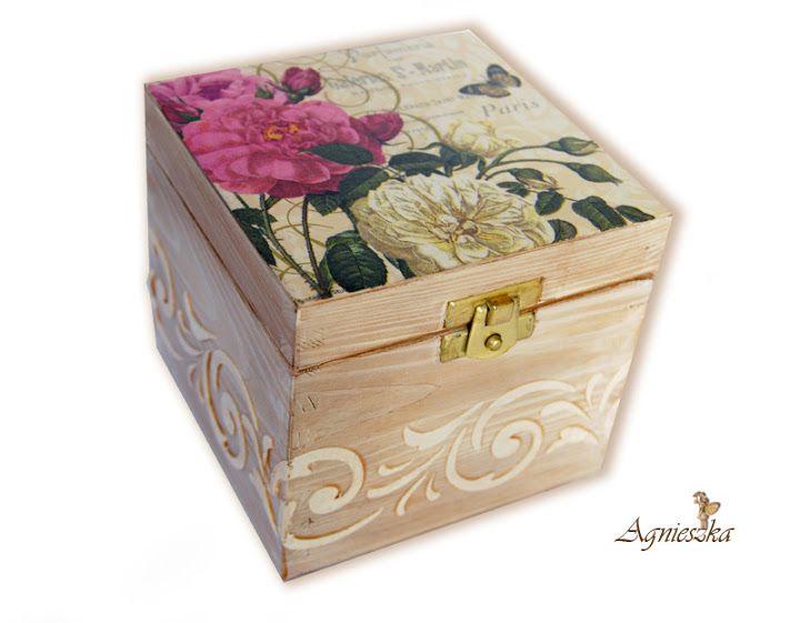 Las servilletas de mi alacena alacena servilleta y es facil - Manualidades en cajas de madera ...