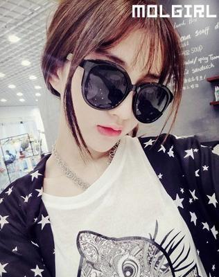 Round Sunglasses - MOL Girl | YESSTYLE