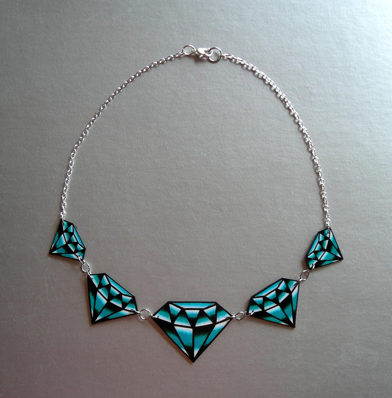 Traditional Diamond Tattoo Necklace. $29.95, via Etsy.