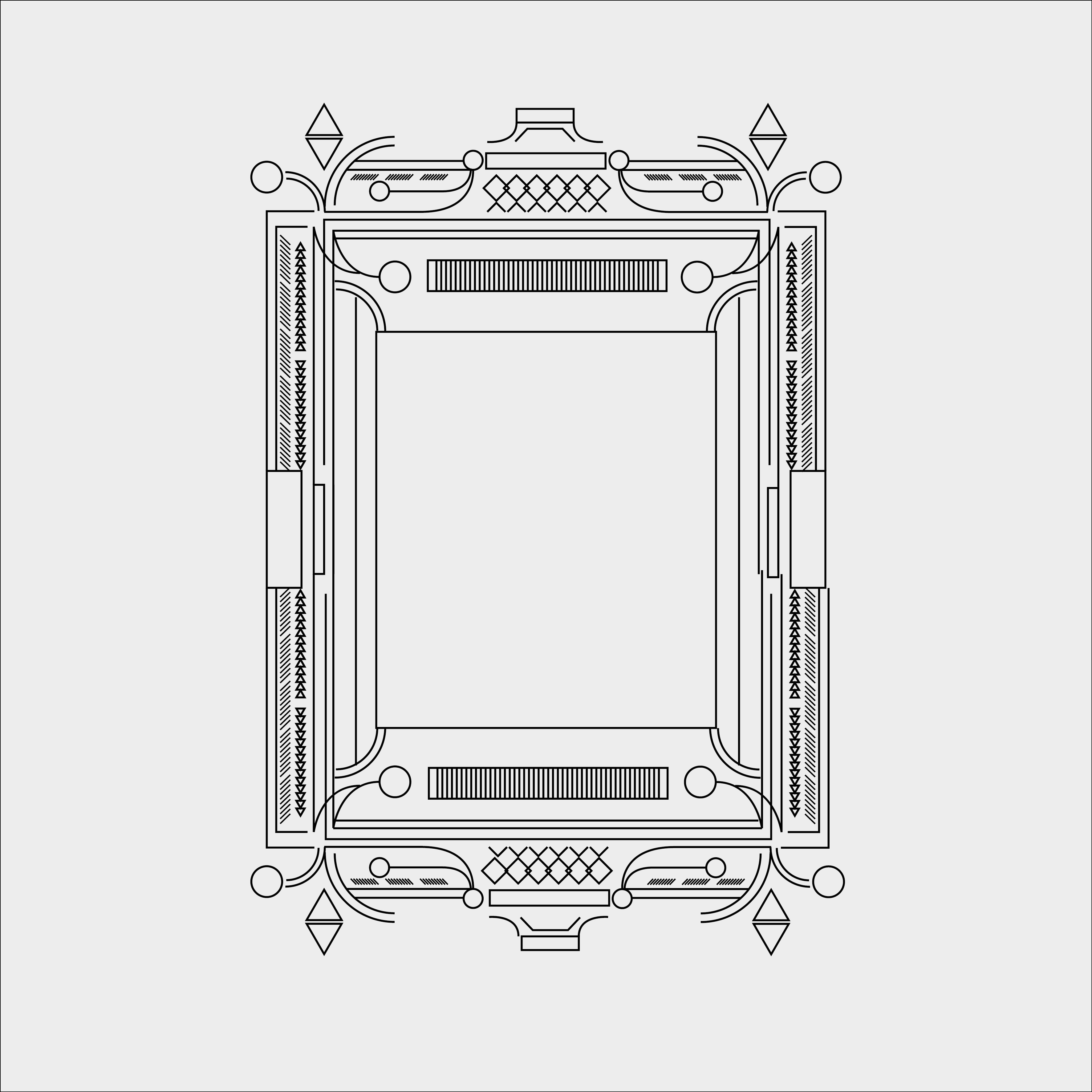 Vector geometric frame art deco monogram design element illustration