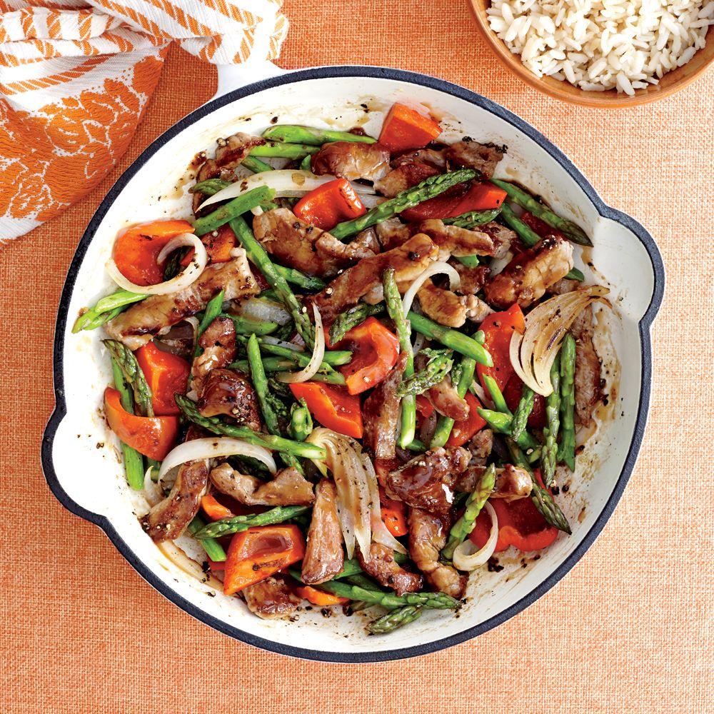 Pork and Asparagus Stir-Fry Recipe | MyRecipes.com Mobile