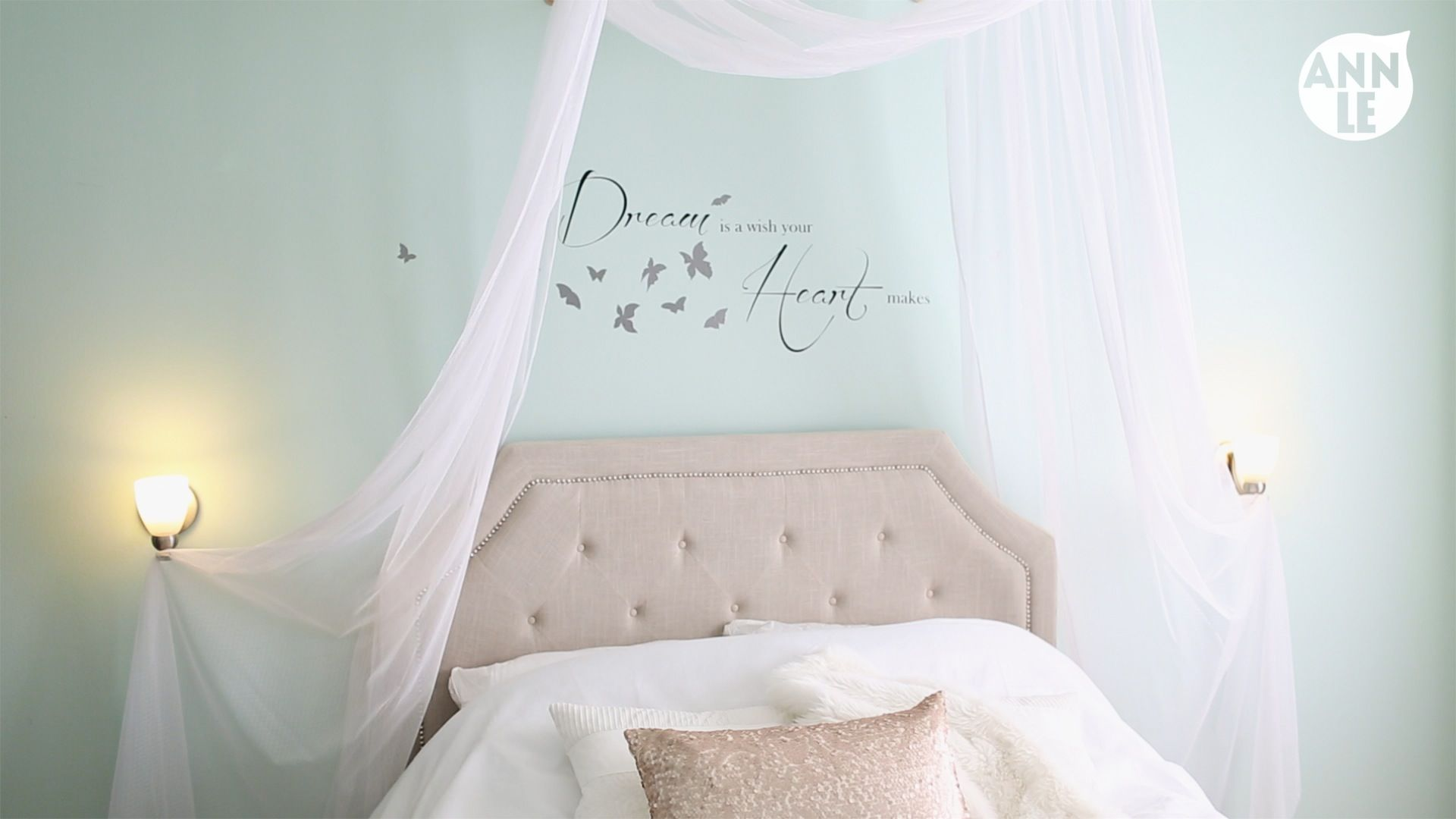DIY Romantic Bed Canopy | Ann Le Style : diy canopies for beds - memphite.com