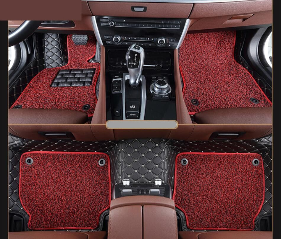 Auto Floor Mats For Peugeot 308 2012 2013 2014 2015 Foot Carpets Step Mat High Quality Embroidery Leather Wire C