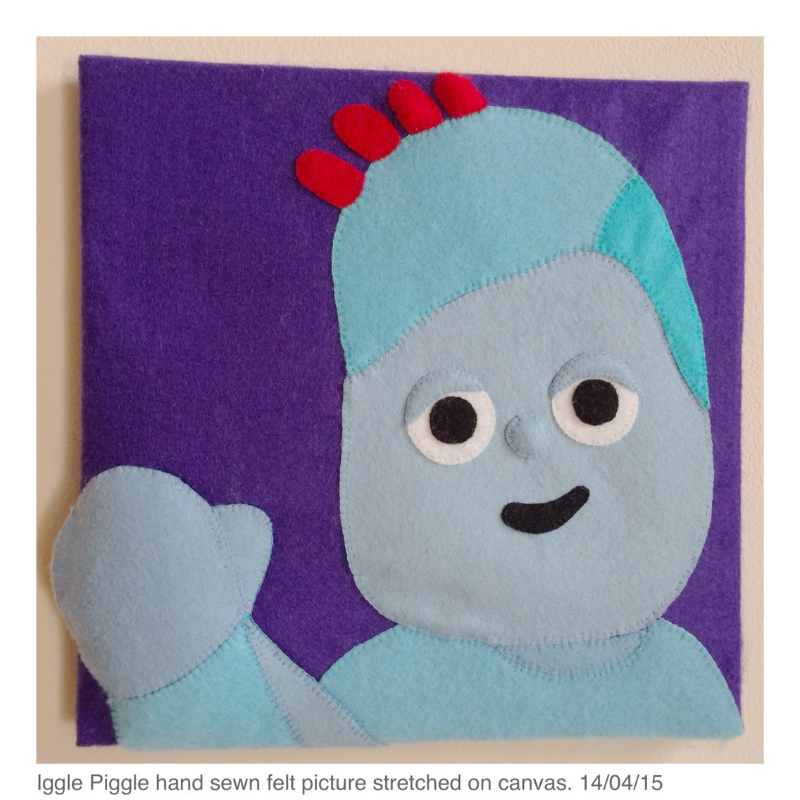 Iggle Piggle felt picture | Joanna\'s hand made pictures | Pinterest
