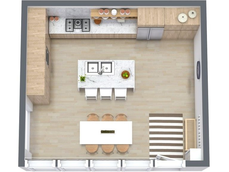 7 Kitchen Layout Ideas That Work Small Kitchen Design Layout Kitchen Layout Kitchen Layout Plans Plan your kitchen with roomsketcher