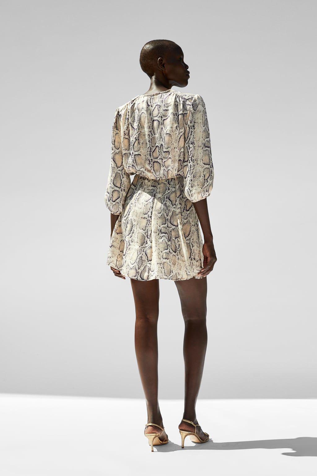 806336d29f18 Imagen 4 de VESTIDO MINI ESTAMPADO SERPIENTE de Zara | Style en 2019 ...