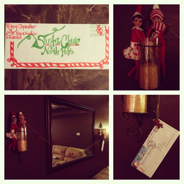 Elf on the shelf day 3 north pole express mail send a letter with elf on the shelf day north pole express mail send a letter with the elves to take to santa personally and they returned with a letter from santa spiritdancerdesigns Choice Image