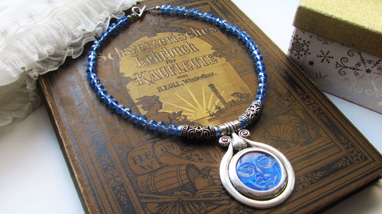 Women/'s Jewelry Men\u2019s Jewelry Crescent Moon Luna Hand Stamped Charm Moon Necklace Hippie Boho Chic
