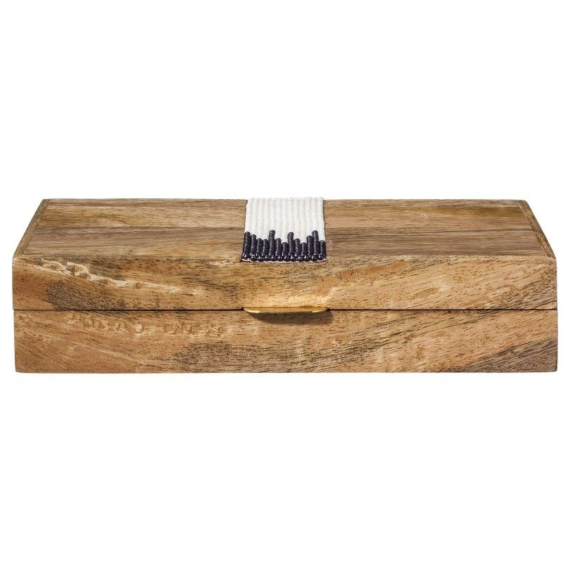 Nate Berkus Seed Bead Inlay Decorative Wooden Box - would love to try to make something like this in colours I like