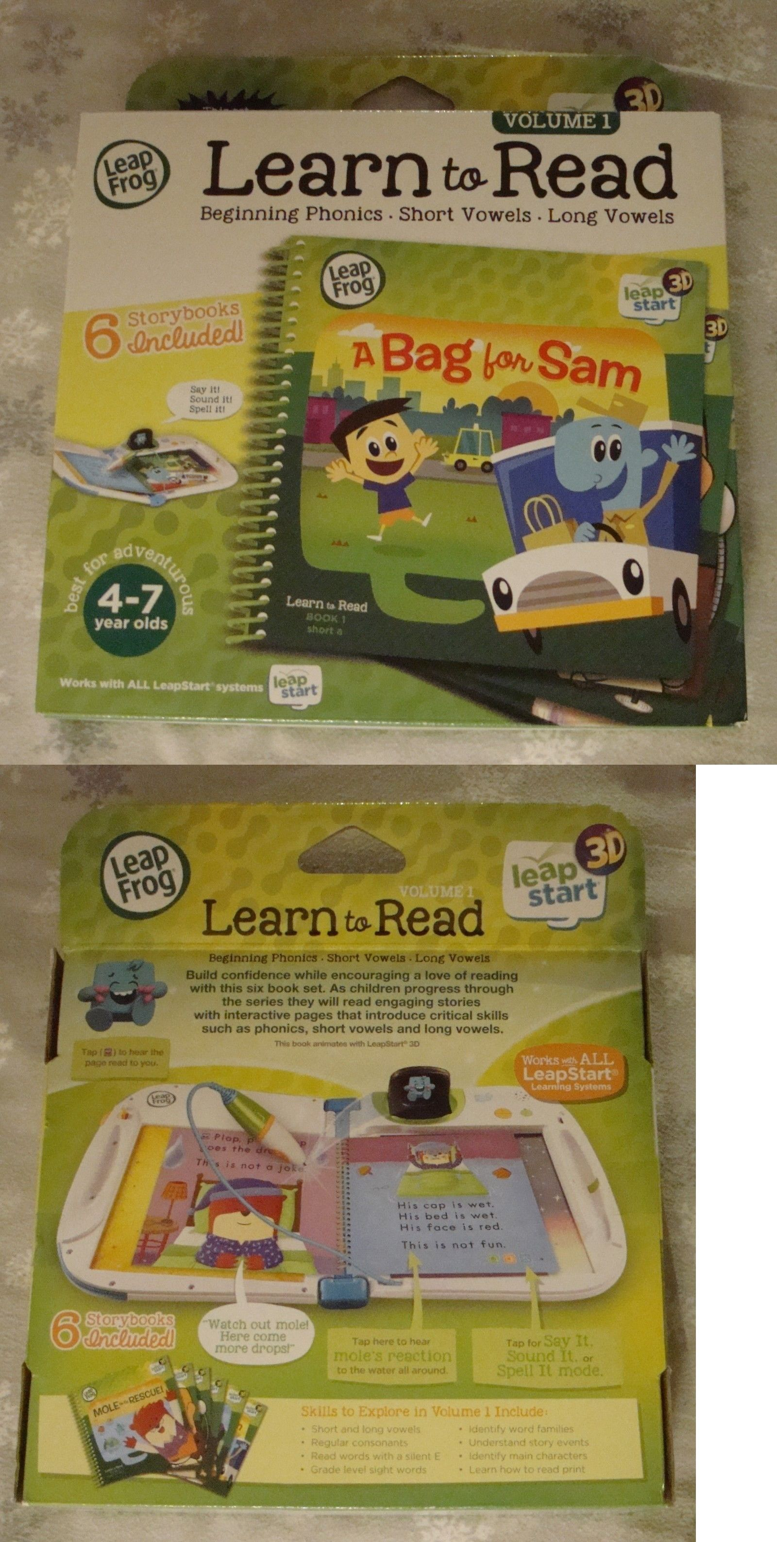 e4bcace4674cf Learning Systems 158695  New Leapfrog Leapstart 3D Learn To Read Volume 1  Six Story Books