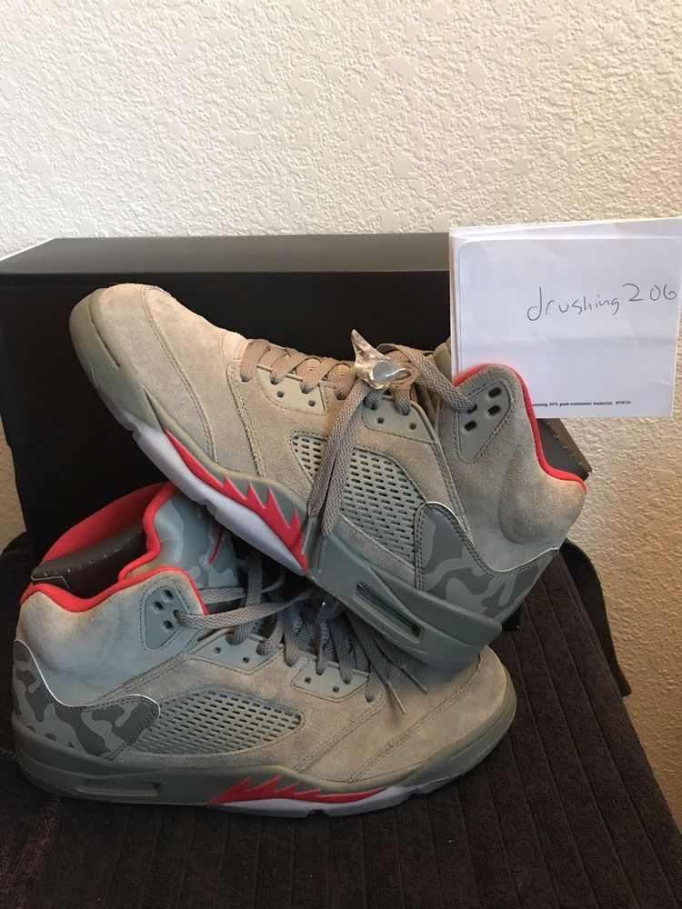 lowest price 7c550 b2dfd Air Jordan Retro 5 136027-051 Size 13 47.5 Dark Stucco University Red Camo   fashion  clothing  shoes  accessories  mensshoes  athleticshoes (ebay link)