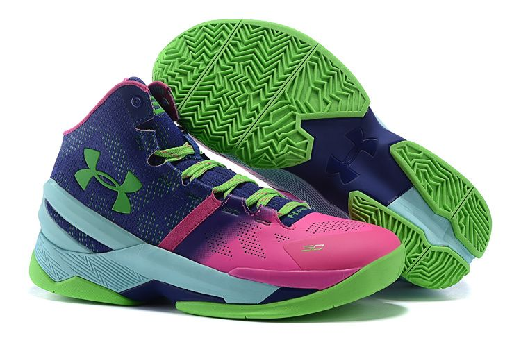 Under Armour Stephen Curry 2 Green Pink Blue Curry shoes