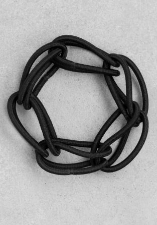 & other stories: elastic chain link ponytail holder
