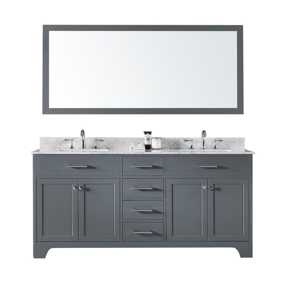 Exclusive Heritage 72 In Double Sink Bathroom Vanity In Cashmere