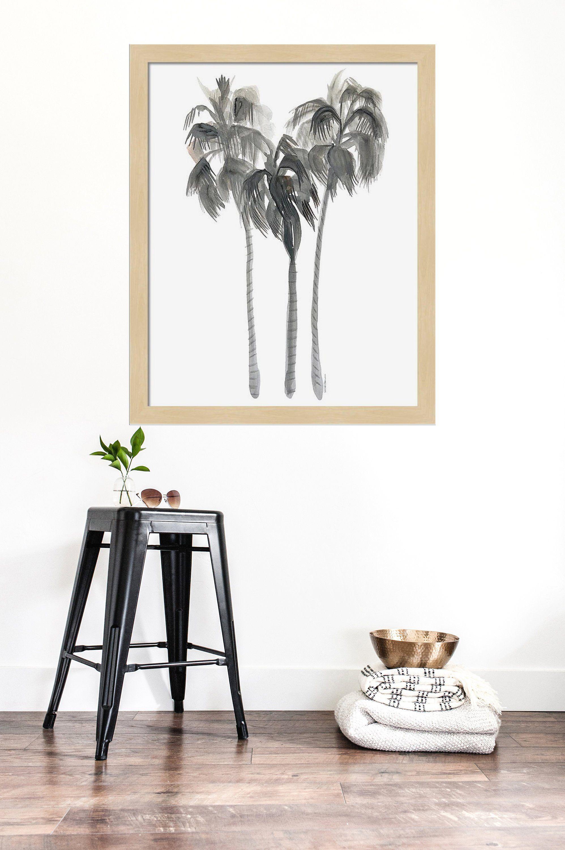 Palm Trees Watercolor Painting Art Print Home Decor Wall Art Beach