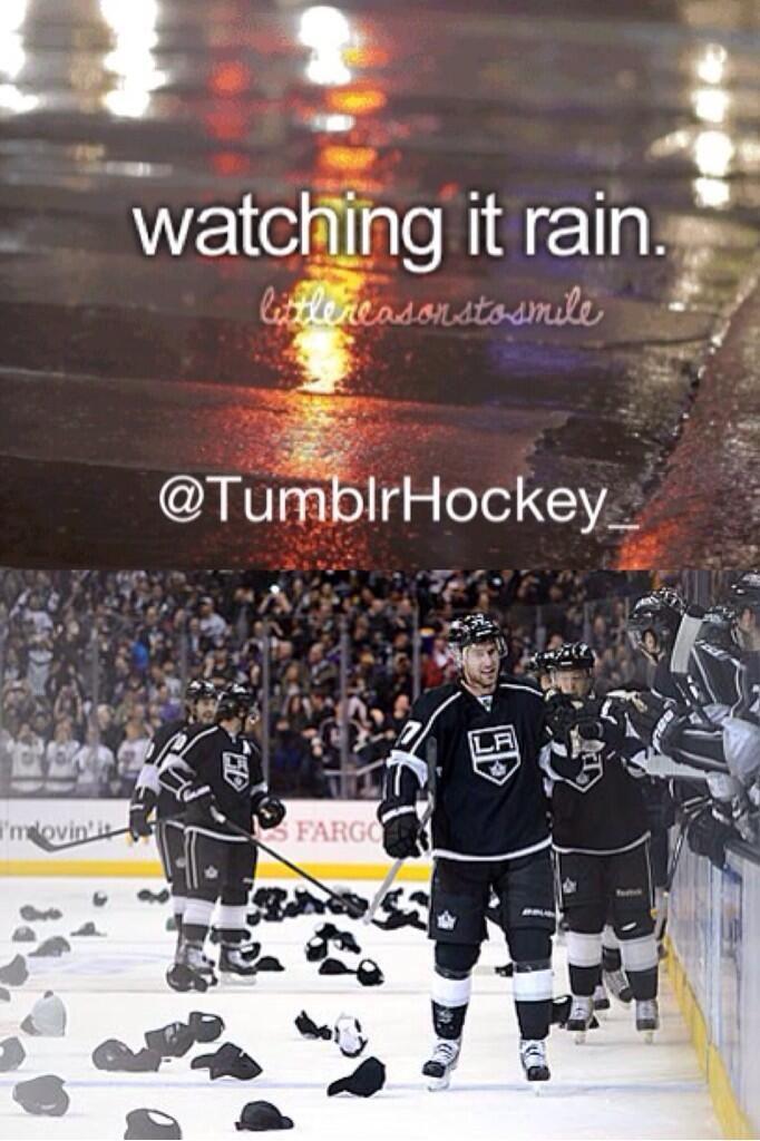 Carter S Hat Trick On The Night They Gave Away Free Hats Hockey Inspiration Hockey Humor La Kings Hockey