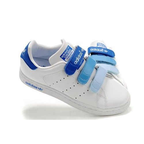 Adidas Stan-Smith tape-shoes blue for adult-baby Wholesale Adidas SMS Buckle