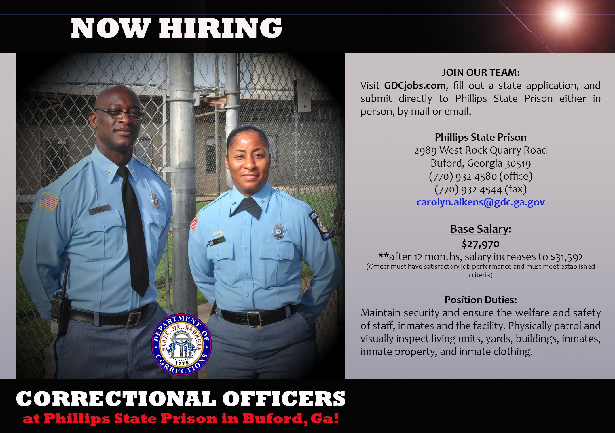 Join Us At Augusta State Medical PrisonS Job Fair On Wednesday