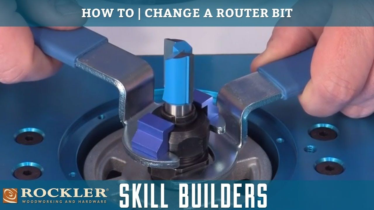 Learn how to install or change a router bit in a portable router or learn how to install or change a router bit in a portable router or router table greentooth Image collections