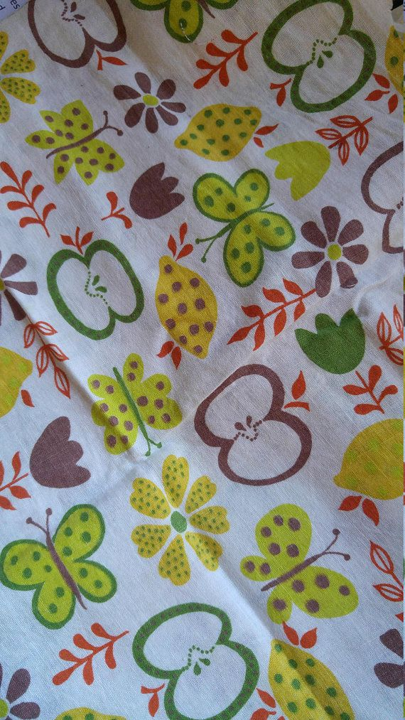 Vintage Novelty Pineapple /& Flower Bouquet Feedsack Feed