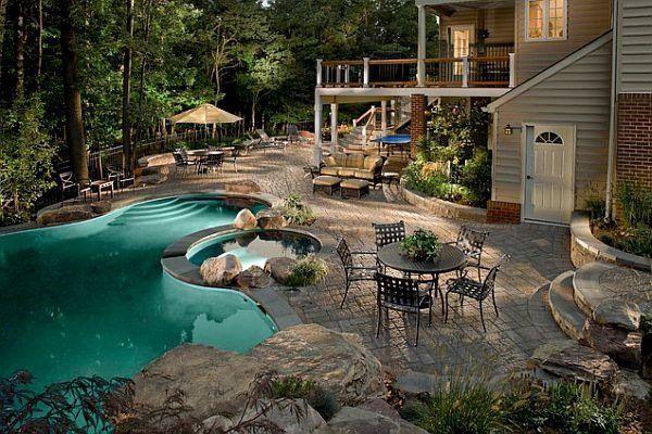 Most Beautiful Backyard Pools Ideas Backyard Retreat Pool Decorating