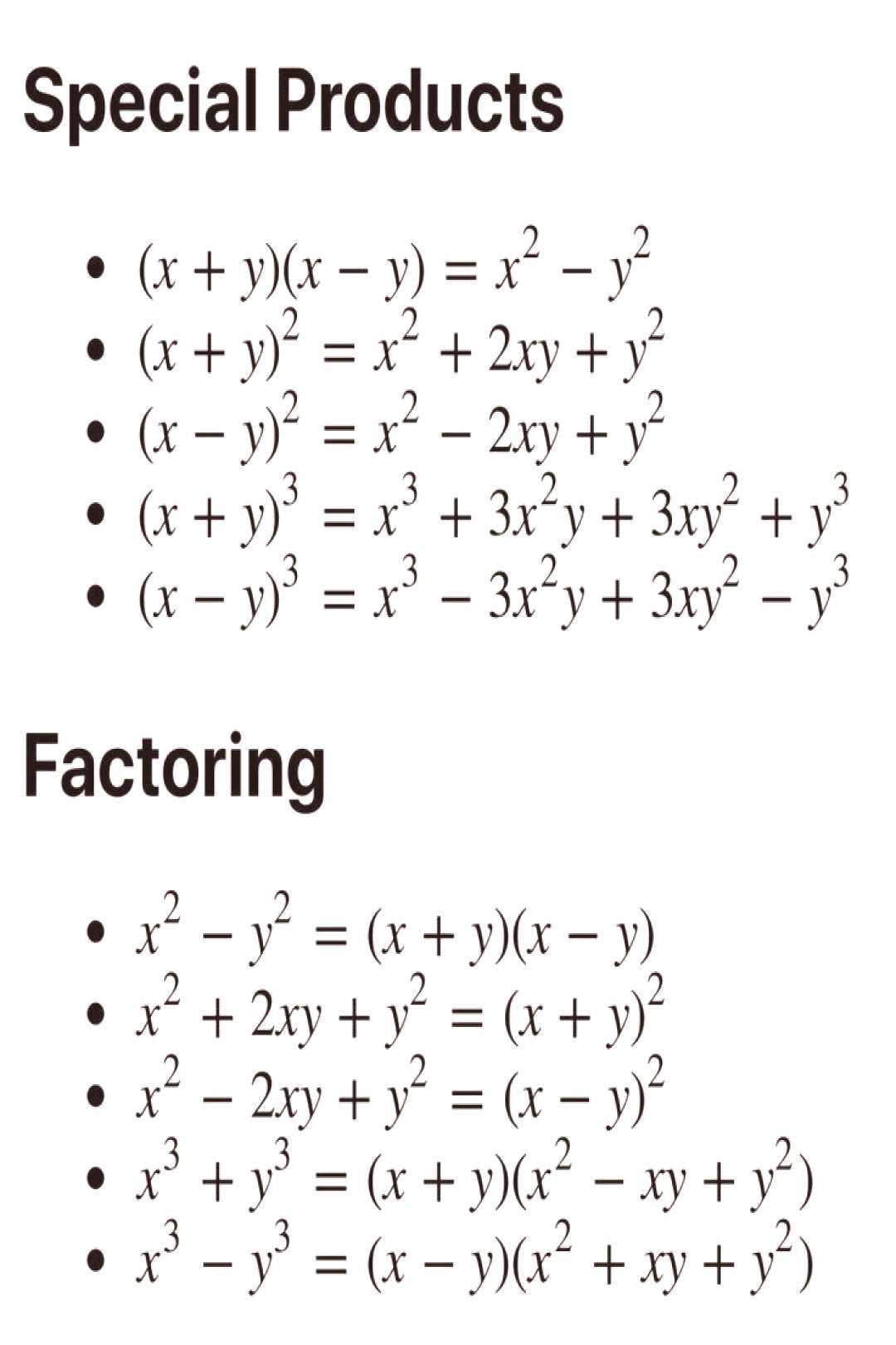Factoring Rules In