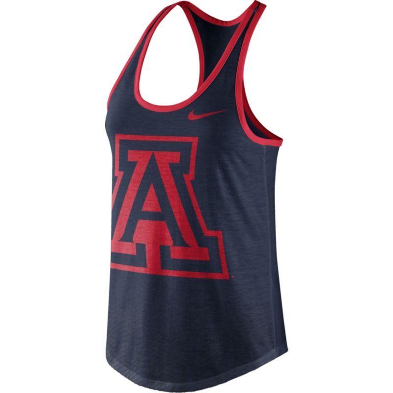 Nike Women's Arizona Wildcats Navy Dri-Blend Tank Top, Size: Large, Team