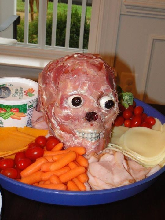 Halloween party food. I find this really disturbing ...