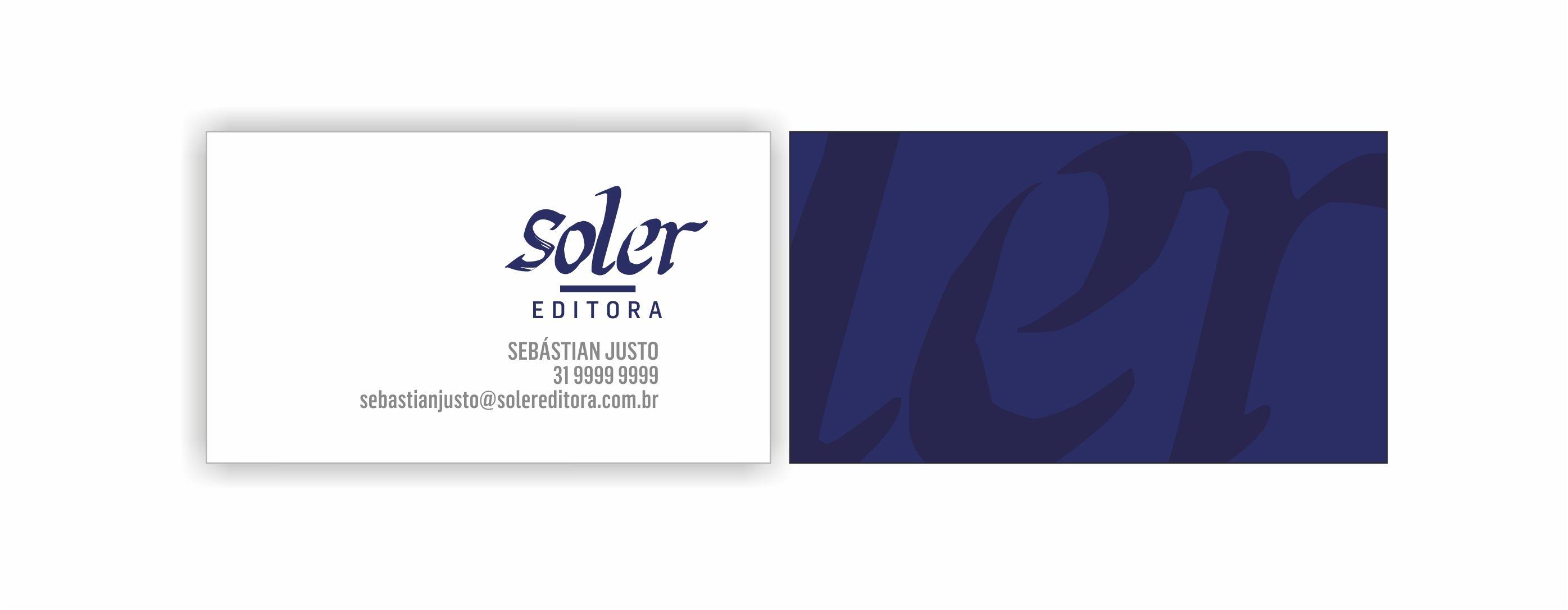 soler editora / logomarca e papelaria por katianey