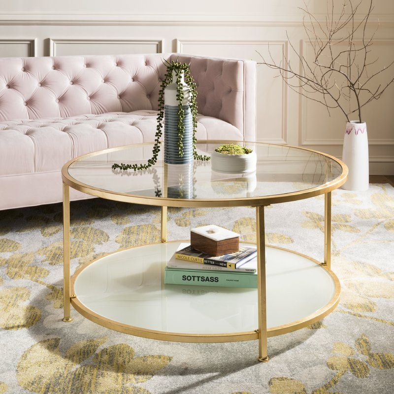 Ellison 2 Tier Coffee Table Reviews Joss Main Gold Coffee