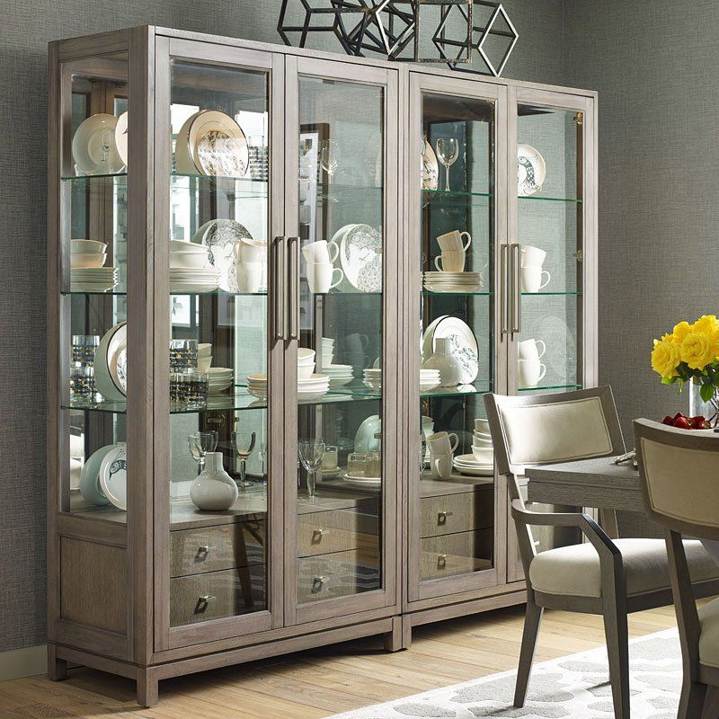 Highline Bunching Display Cabinet Modern China Cabinet China Cabinet Display Home Decor
