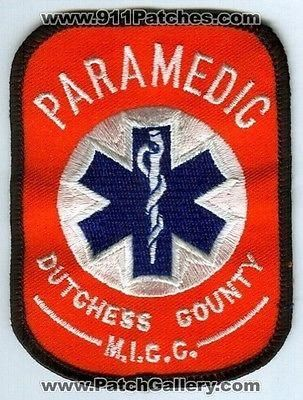 Dutchess County Paramedic MICC Emergency Medical EMS Fire Patch New York NY