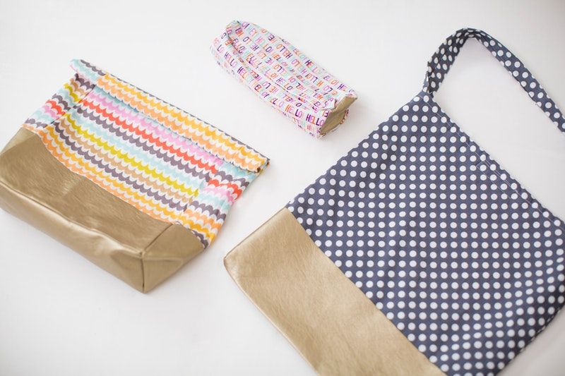 We teamed up with Velcro Industries to create a trio of matching bags that can easily be customized for any style.