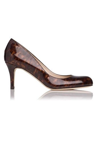 20 Comfy-Chic Heels Made For Busy Girls #refinery29  http://www.refinery29.com/58936#slide-9  LK Bennett Sabira Patent Leather Print Pump, $295, available at LK Bennett.