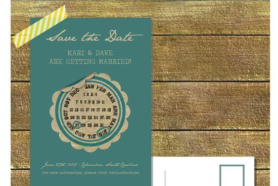 Creative calendar design on Save the date