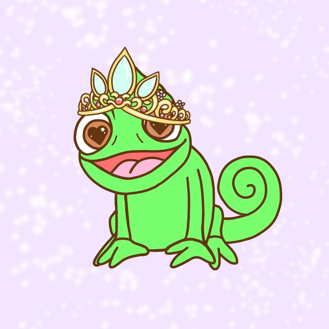 Pascal Was The Real Lost Princess Tangled Wallpaper Disney Background Cute Disney