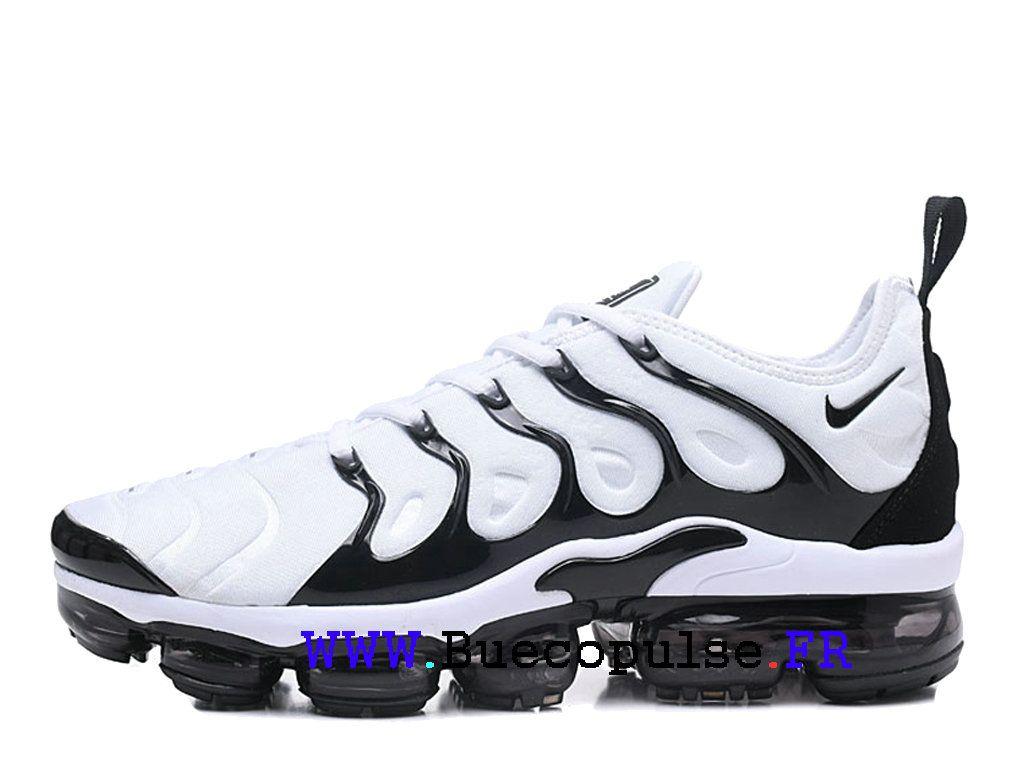 ac94e288035 Chaussure Nike Air VaporMax Plus TN Officiel de Basket Pas Cher Pour Homme  blanc noir 924453