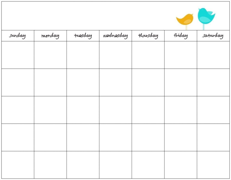 7 Day Calendar Template Word Free Calendar Template Blank Monthly Calendar Template Blank Calendar Template 7 day weekly planner template