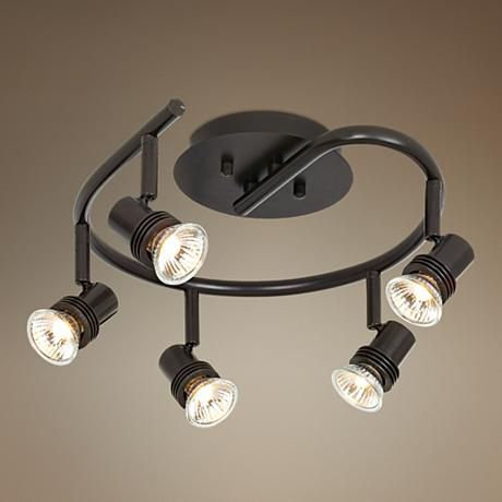 pro track spiral bronze 5 light ceiling