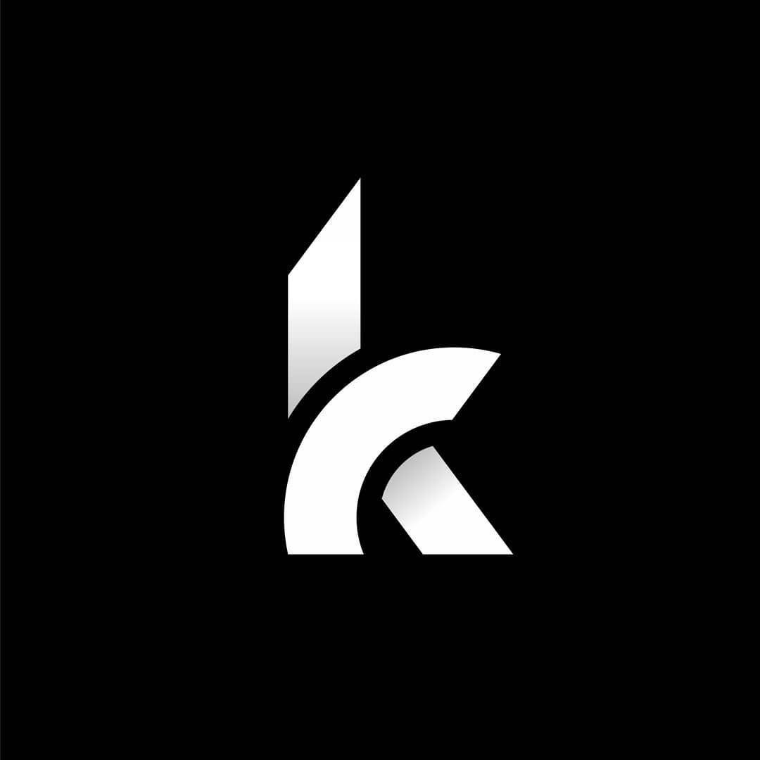 K Logotype K Letter K Monogram K Black And White Minimal Geometric Logo Design Inspiration Ideas For Geometric Logo Design Branding Design Logo Geometric Logo Letter k k logo design hd