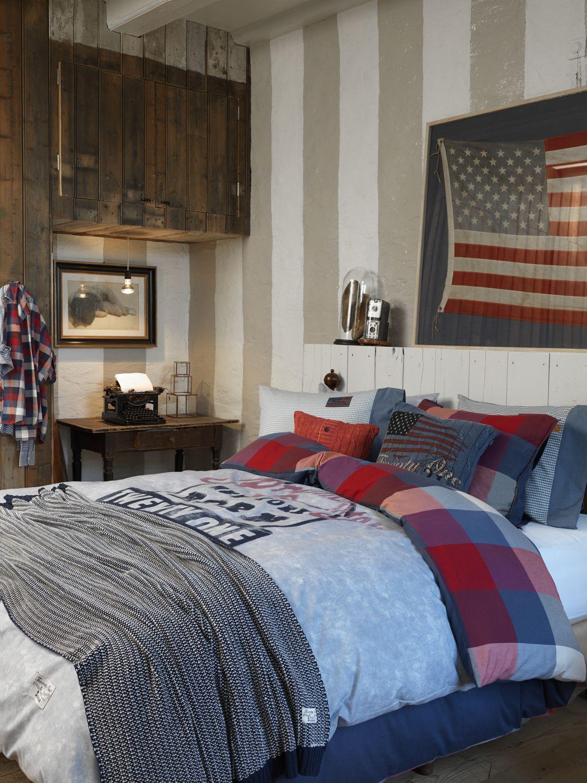 mc gregor kamer en beddenovertrek leuk dat streep behang ook
