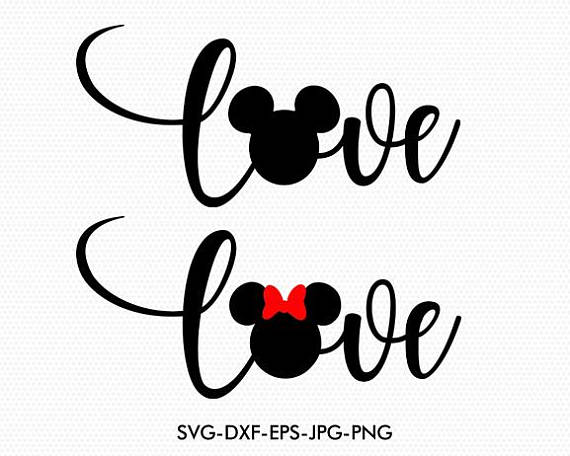 Download Mickey Love Silhouette   Mickey mouse tattoos, Mickey ...