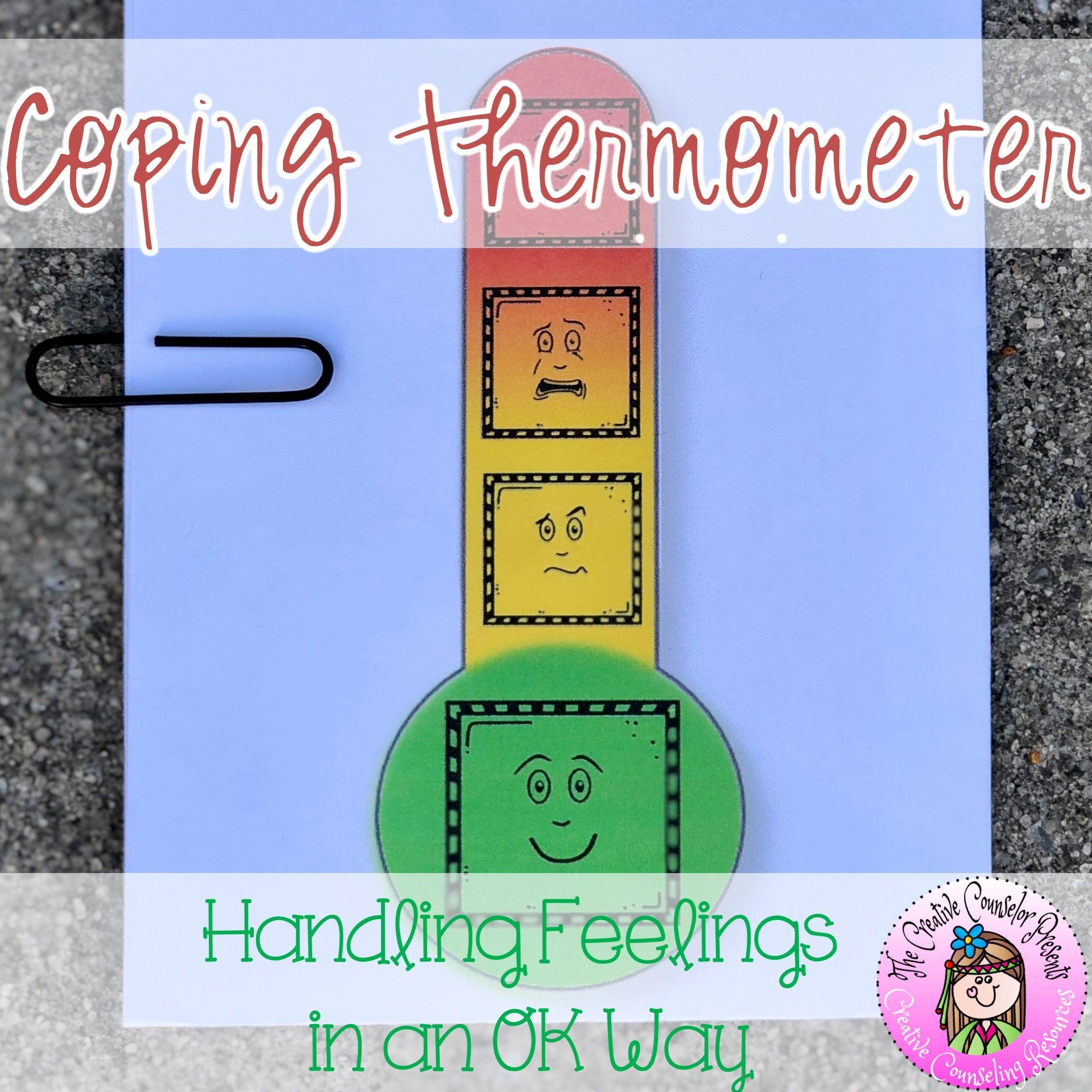 Coping Strategies Thermometer Handling Feelings In An Ok