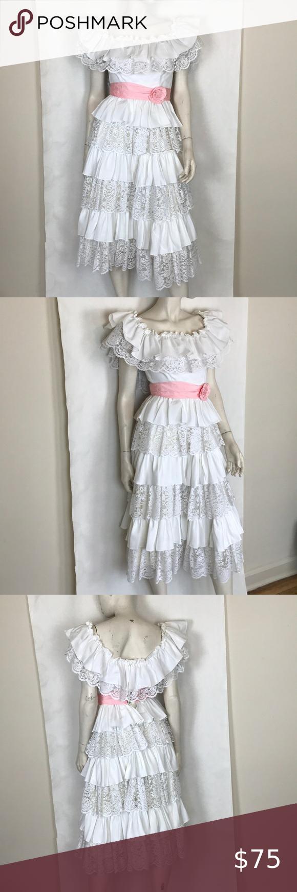 Vintage 80s White Ruffle Dress Prairie Picnic Xs In 2020 White Ruffle Dress Ruffle Dress Salsa Dress [ 1740 x 580 Pixel ]