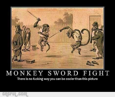 Duelling monkeys